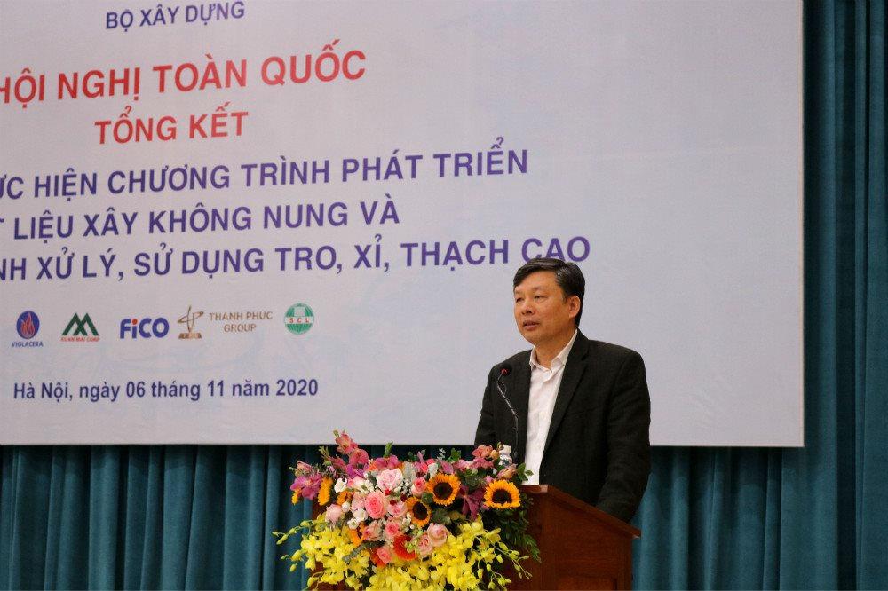 Ông Nguyễn Đình Hậu – Vụ trưởng Vụ Khoa học và Công nghệ các ngành kinh tế - kỹ thuật (Bộ KH&CN) phát biểu